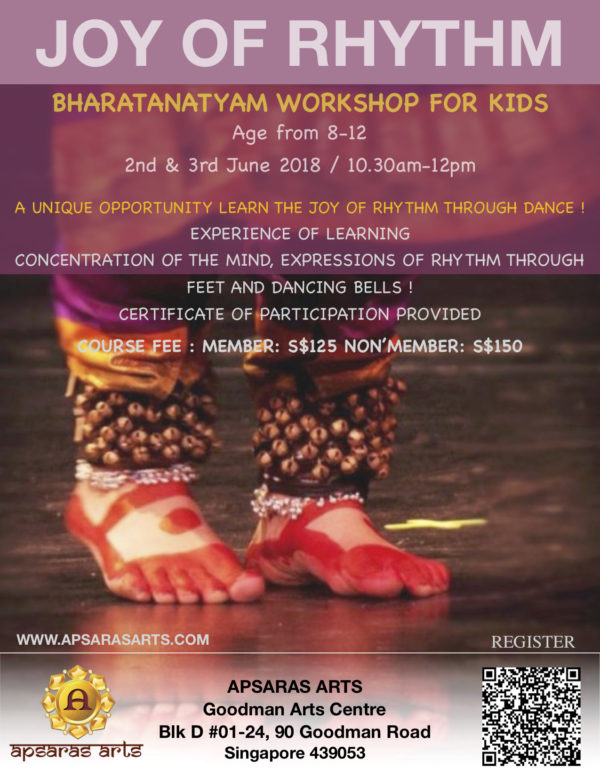Bharatantayam workshop for Kids: Joy of Rhythm